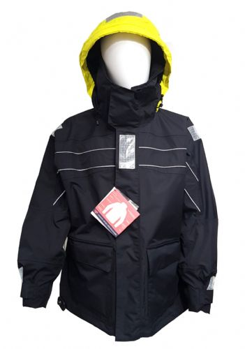 Maindeck Coastal Sailing Jacket Black Waterproof Breathable packed with Features.